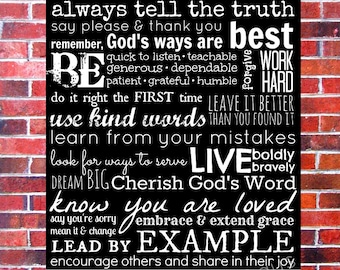 House Rules, Family Rules, Rules of Life, Life Rules, Family Rules Sign, Family Rules Wall Art, Family Rules Poster, Christian Family Rules