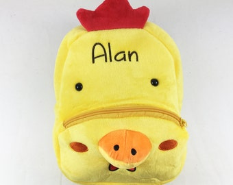 Chicken Backpack Personalized Birthday Gifts for Kids Backpack Preschool Backpack Toddler Backpack Daycare Child Backpack Chicken Bag