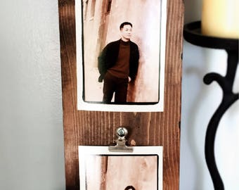 Rustic Vertical Photo Display Board