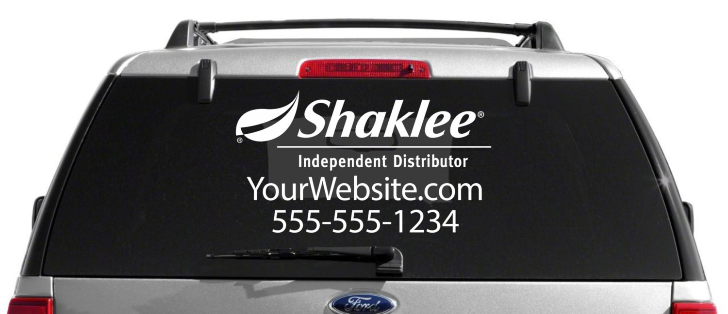 SALE Shaklee Custom Vehicle Decal - Advocare car decal stickers