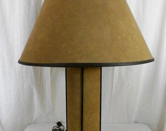 REDUCED! Mid Century Modern Suede Accent Lamp