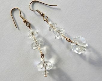 Cut Crystal Dangle Earrings