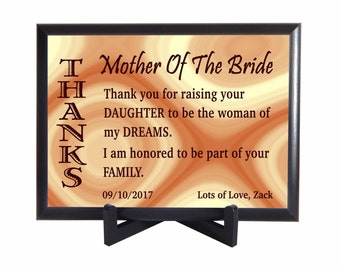 Mother of the Bride Gift - Gifts for Mother in Law - Wedding Thank You Gift for Mom of the Bride - Parents of the Bride Gifts, PWH010