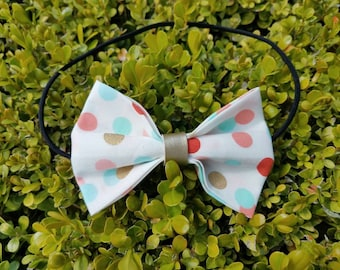Kids Multi-colored Polka Dot Bow Headband