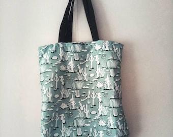 Cactus Print Tote Bag