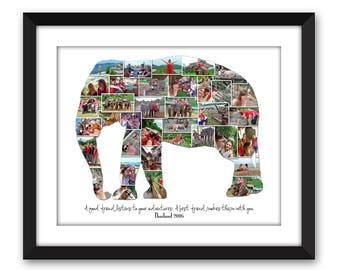 Thailand Sri Lanka Africa Elephant Southeast Asia Vacation Honeymoon Destination Travel Photo Collage Wall Art Home Decor Digital Printable
