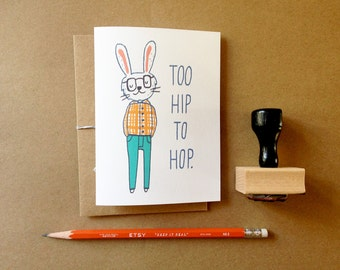 Hipster Bunny Easter Card