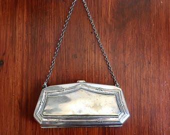 Victorian Vintage Silver Plated Evening Small Clutch Purse Bag