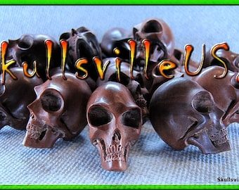 Alien Skull Beads - Individually Hand-carved From Sabo Wood