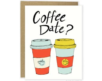 Coffee Card, Food Card, Friend Card, Funny Mentor Card, Funny Love Card, Funny Anniversary Card, For Him, For Her, Coffee Date Card, Bestie