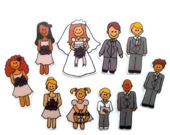 Wedding, Felt Board, Flannel Board, Felt Set, Homeschool, Busy Book, Felt Story, Story Time, Quiet Book, Imaginative Play, Teacher Resource