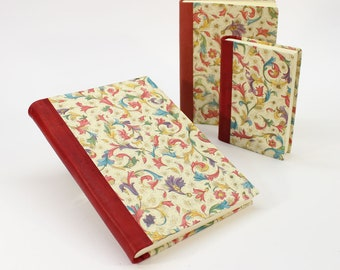 Florentia Hardcover Journal Notebook with Genuine Leather Spine