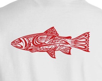 Red Wild Trout Short Sleeve