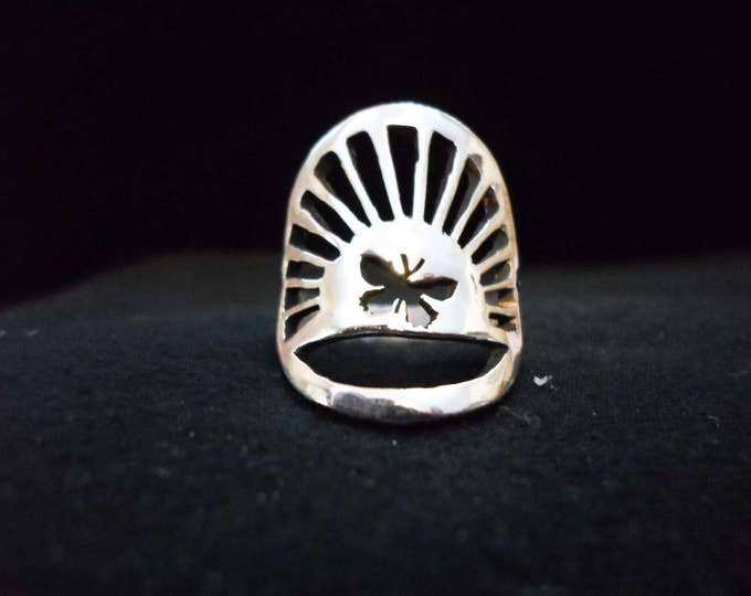 butterfly sunburst ring quarter size