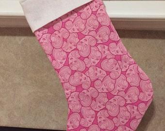 Barbie Pink Retro Style Holiday Stocking