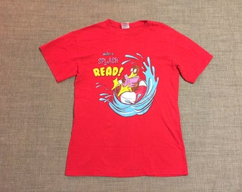 Vintage Graphic Red Make A Splash Read Tee shirt Small S