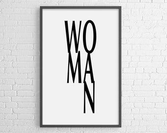 Woman - Pop art, contemporary art, modern poster