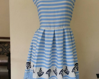 anchor sailor rockabilly nautical dress