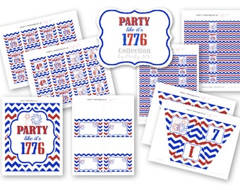 "PRINTABLE (4th of July) - ""Party Like It's 1776"" Collection"