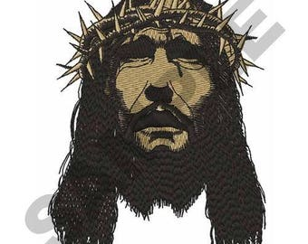 Jesus With Crown Of Thorns - Machine Embroidery Design