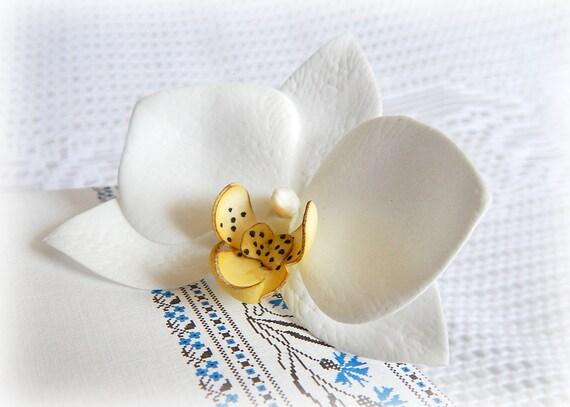 Hawaii-Blume Haar Clip weiße Orchidee Blume Haarnadel Orchidee