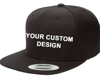 Customized Snapback  / Classic Snapbacks / Gym Cap / Embroidered Hat / Custom Embroidery / Your Custom Apparel / DTG Printing / Baseball Cap