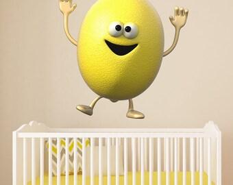 Wall decals fruit lemon A230 - Stickers fruit citron A230