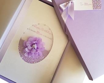 Boxed birthday cards etsy large luxury handmade personalised boxed birthday card for mumdaughtersisterfriend bookmarktalkfo Gallery