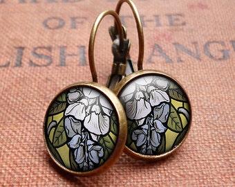 Wisteria Leverback Earrings (AN03)