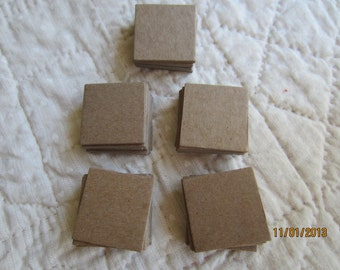 1-3/8 Inch Chipboard Square Die Cuts - Square Blanks -Unfinished - Decoration-Raw Chipboard Small Square Shapes