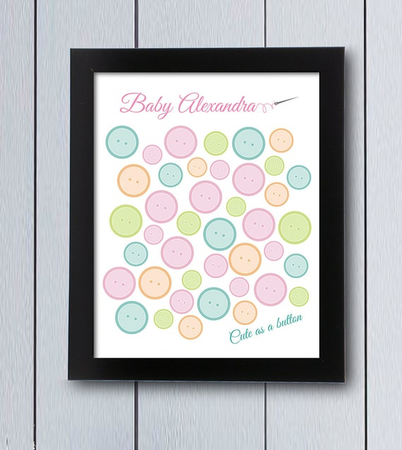 as a button sign in board printable pdf baby shower