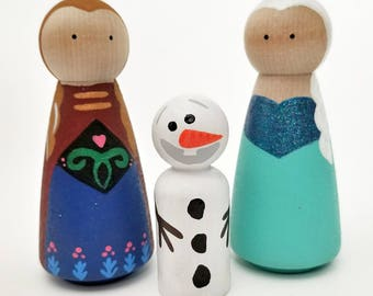 Frozen Peg Dolls