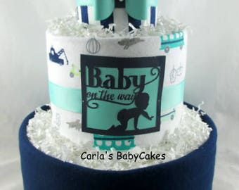 Boy diaper cake | Baby boy gift | Baby Diaper Cake | Baby Shower Gift | New Mom Gift | | Baby shower decoration | Baby sprinkle gift