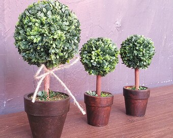 Mini Topiary Plants / Miniature Garden Accessories / Artificial Potted Plant / Interior Accessories