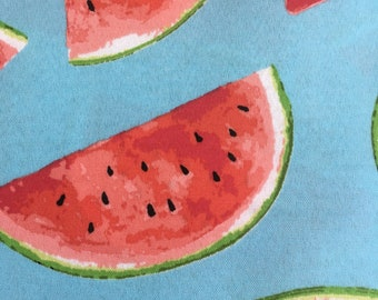 Watermelon blue indoor outdoor fabric by bershile