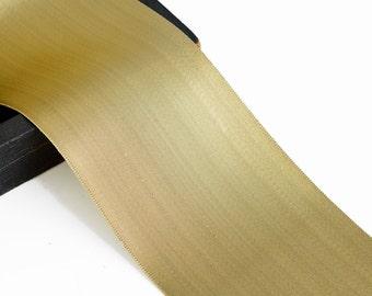 "4"" Metallic Ribbon Trim by yard, Gold, Silver, MAY-7073"