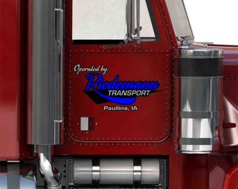 Riedemann Transport Semi Truck Graphics Package - includes (Company Name, City & State, USDOT, Motor Carrier, VIN and Truck Numbers)