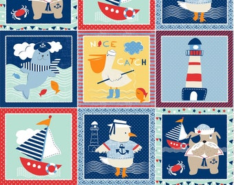 "Ahoy Matey - Blocks Panel - 23""x 42"" by Mary Jane Mitchell from Studio E"