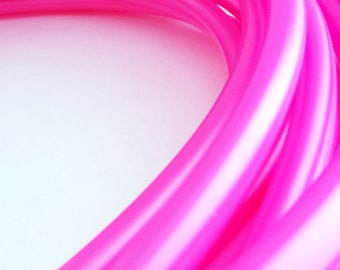 "POLYPRO HOOP: Uv Metallic Hot Pink 5\8"" polypro hula hoop // Free Grip//Push Pin Collapsible// Light Weight// sizes 26""-36"