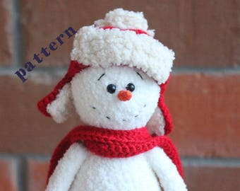 PATTERN  snowman  amigurumi pattern crochet pattern PDF (English,Russian)