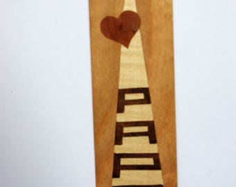 Bookmarks in marquetry / dad