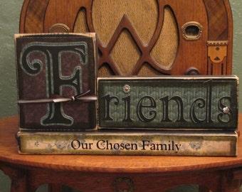 Custom Friends-Our Chosen Family Sign Word Blocks