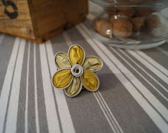 Ring Nespresso small yellow flower