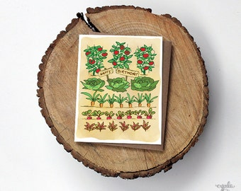 Vegetable Garden Card Veggie greeting card vegetables card greeting cards paper goods stationery