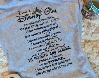 I am a Disney Girl- Womens Disney T-Shirt - Disney Shirt
