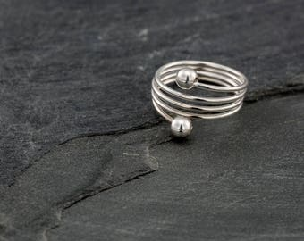 Silver toe ring. adjustable toe ring. sterling silver toe Ring.
