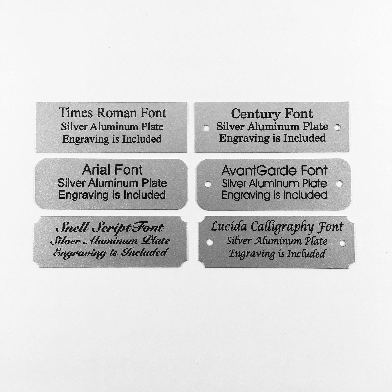1x3 Laser Engraved Silver Aluminum Plaque Black