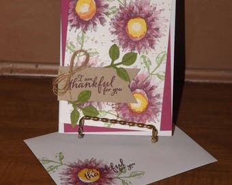 Stampin Up- Thankful For You- Hand Crafted Card Kit- Set of 4
