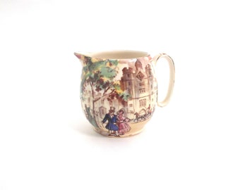 Royal Winton 'Old London' St. James's Palace, Grimwades~Made in England #3815 Hand-Painted, Gold-Rimmed Small Creamer