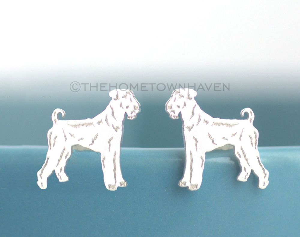 Airedale Terrier Earrings King of Terriers Dog lover